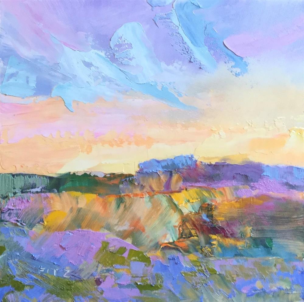 """Impasto Landscape Study 24"" original fine art by Charlotte Fitzgerald"