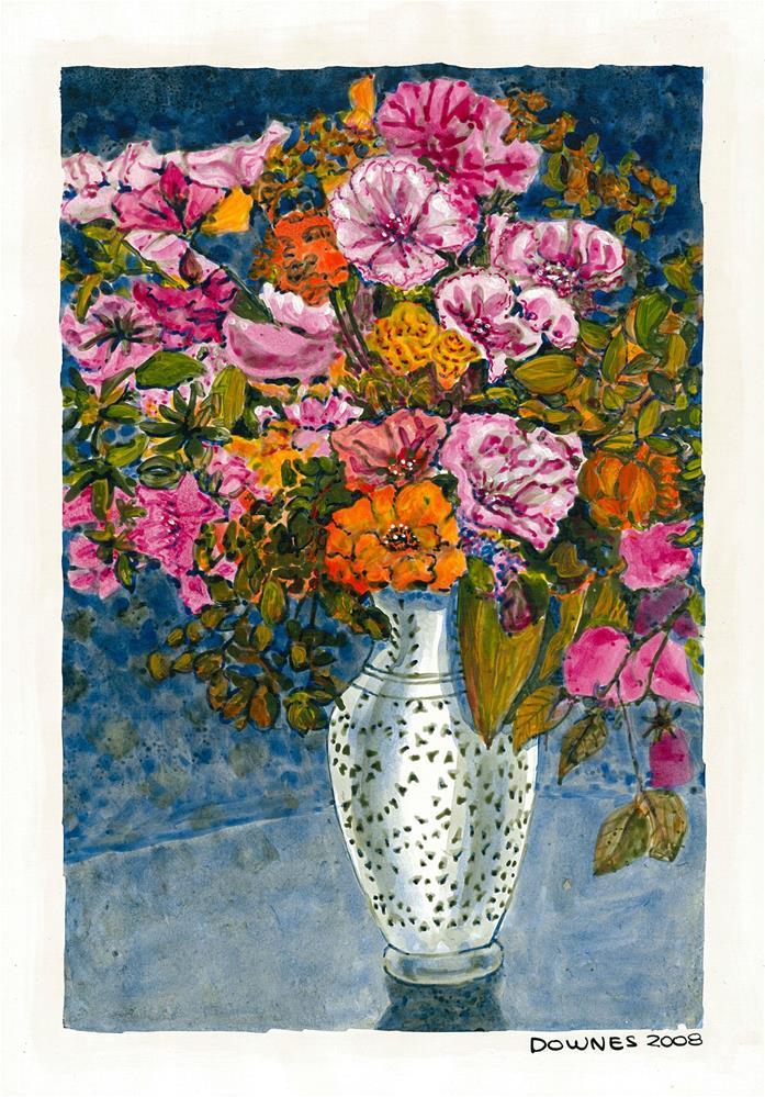 """209 CLASSIC FLOWERS 11"" original fine art by Trevor Downes"
