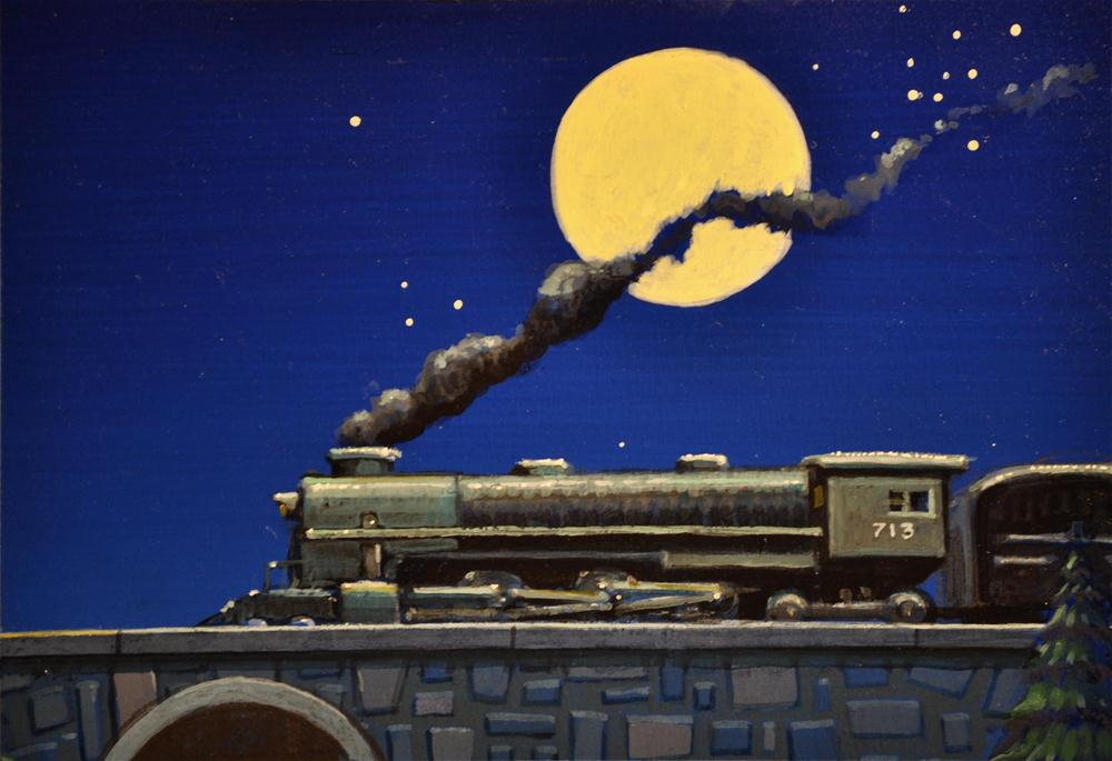 """Moonlight Express"" original fine art by Robert LaDuke"