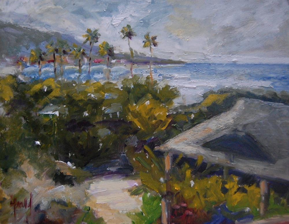"""A Walk in Laguna"" original fine art by Deborah Harold"