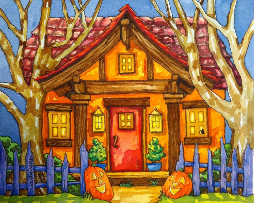 """TRICK OR TREAT?"" original fine art by Kristy Tracy"