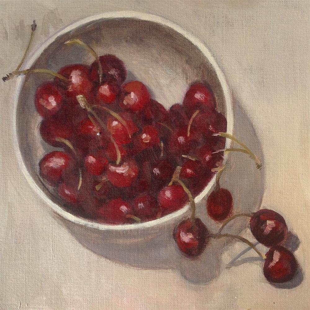 """Cherries"" original fine art by Christine Bayle"