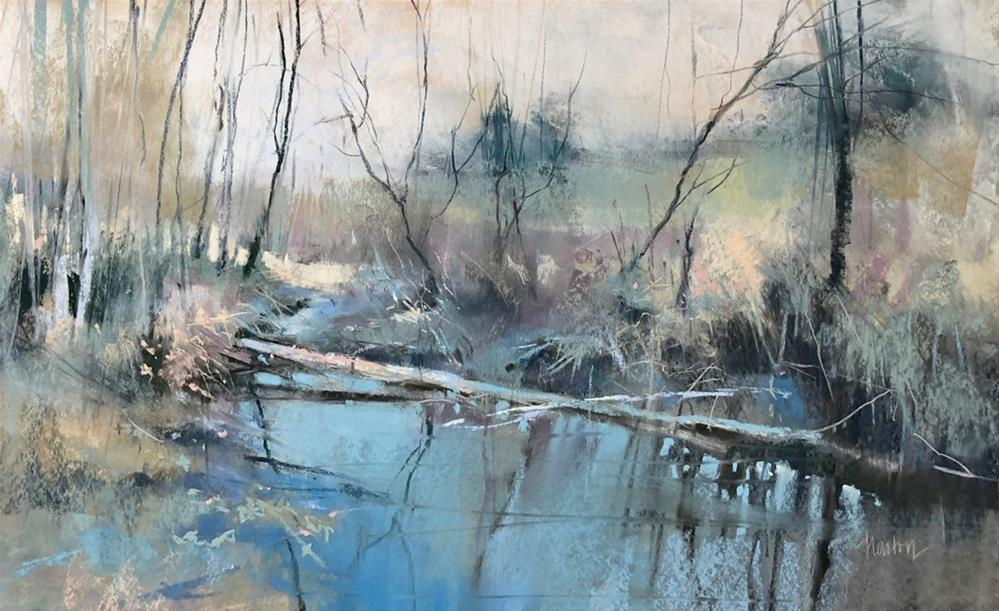 """Rock Creek Winter Series, No. 5"" original fine art by Barbara Benedetti Newton"