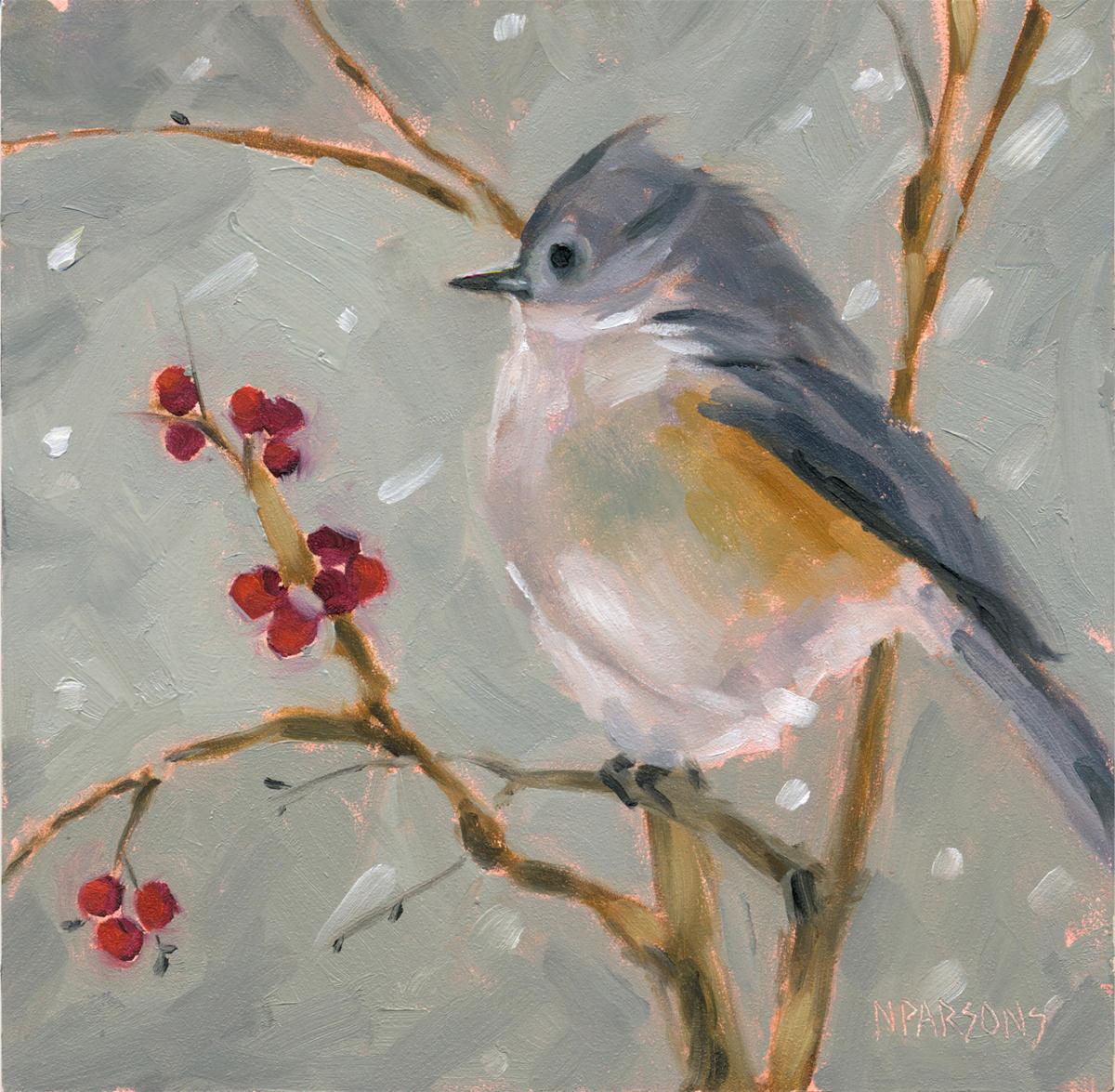 """Forest Forager"" original fine art by Nancy Parsons"