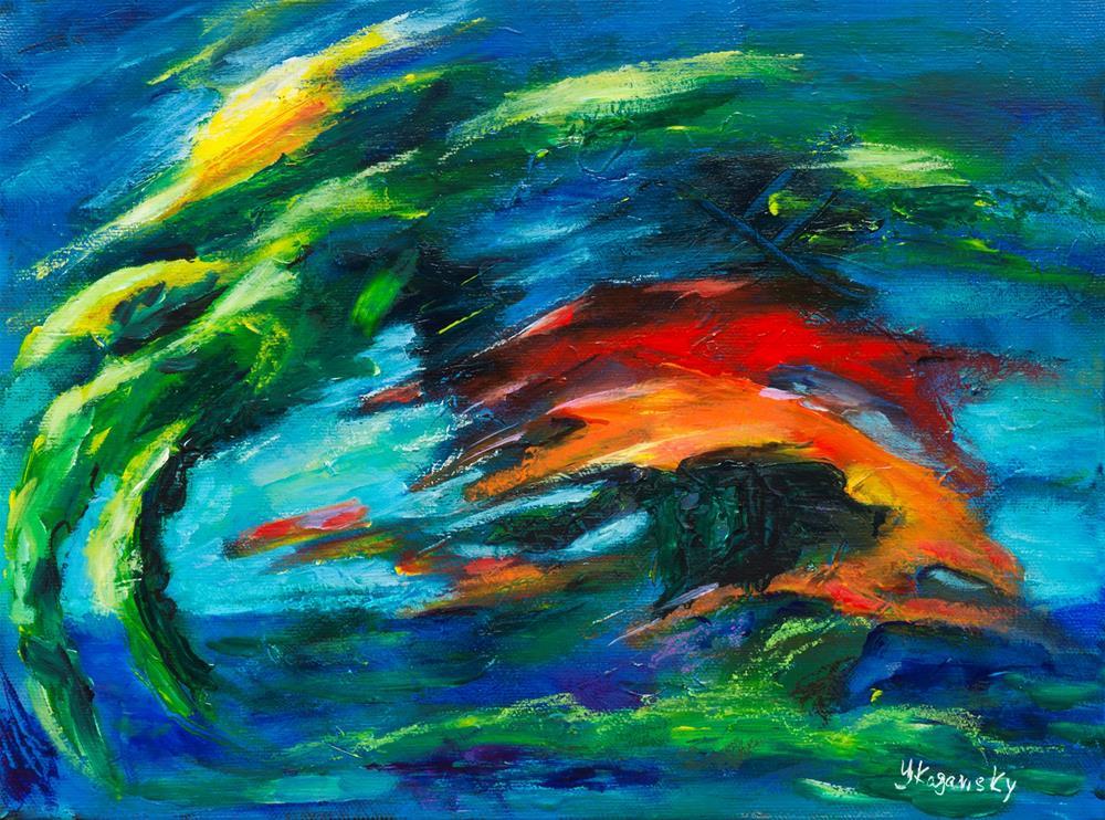 """Surreal Landscape"" original fine art by Yulia Kazansky"