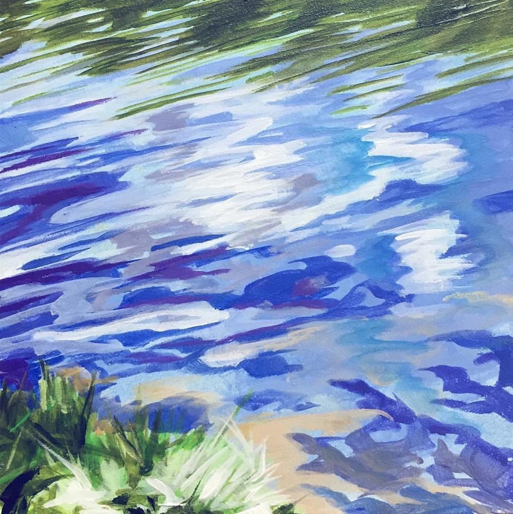 """Clouds Reflected"" original fine art by Lauren Kuhn"