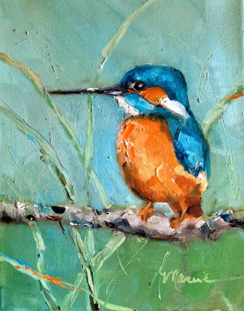 """The Kingfisher"" original fine art by Marcia Hodges"