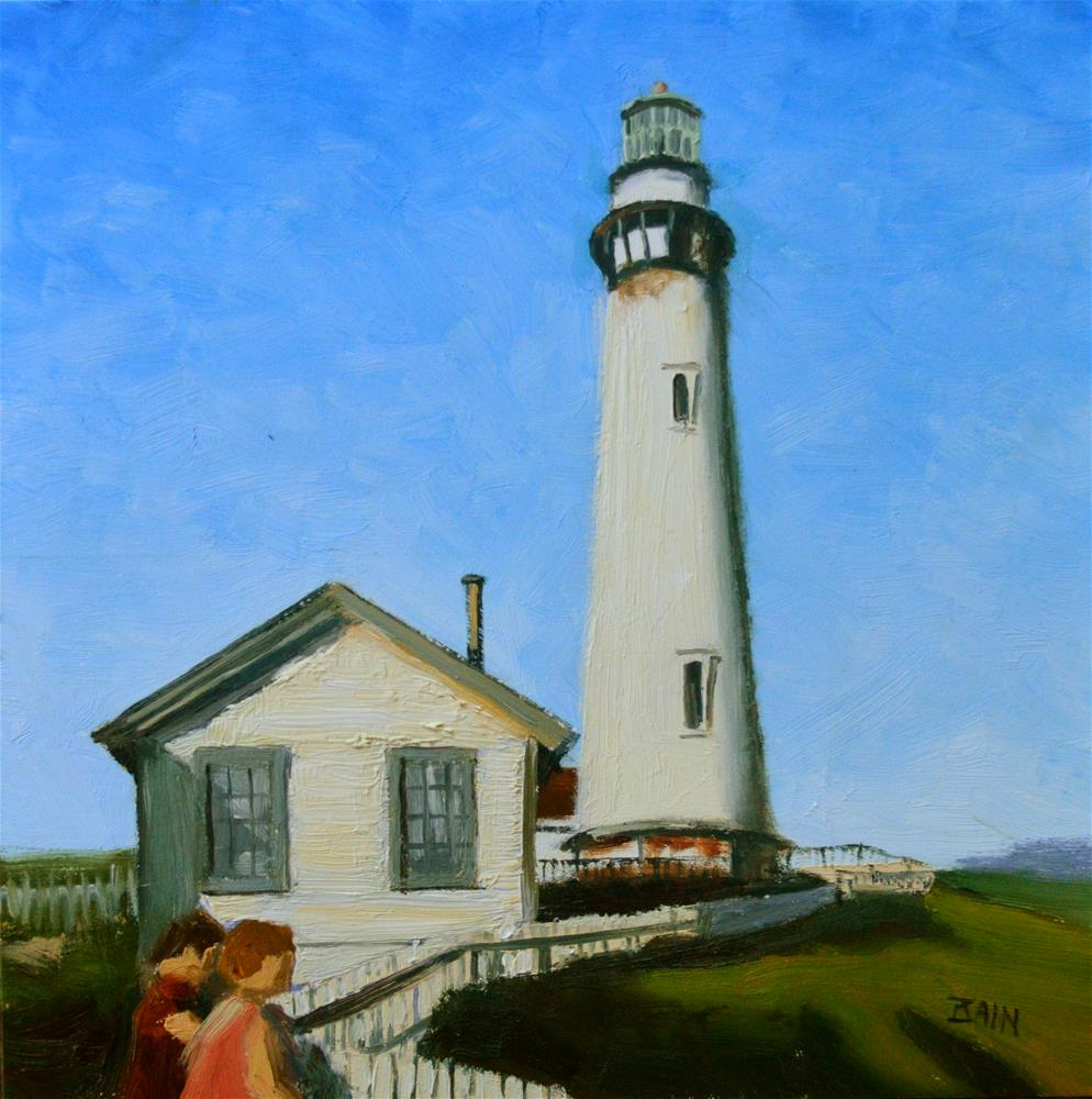 """Pigeon Point Light"" original fine art by Peter Bain"