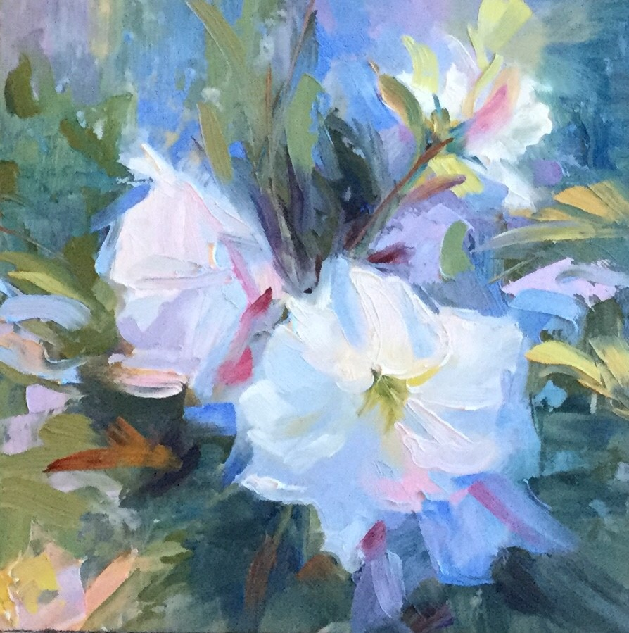"""It's April"" original fine art by Charlotte Fitzgerald"
