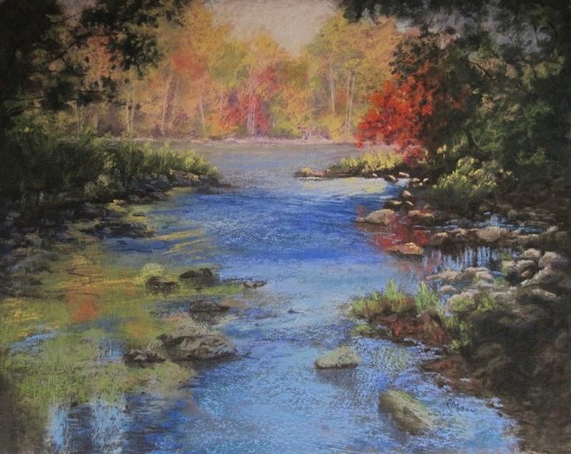 """""""Quiet Corner"""" original fine art by Ruth Mann"""
