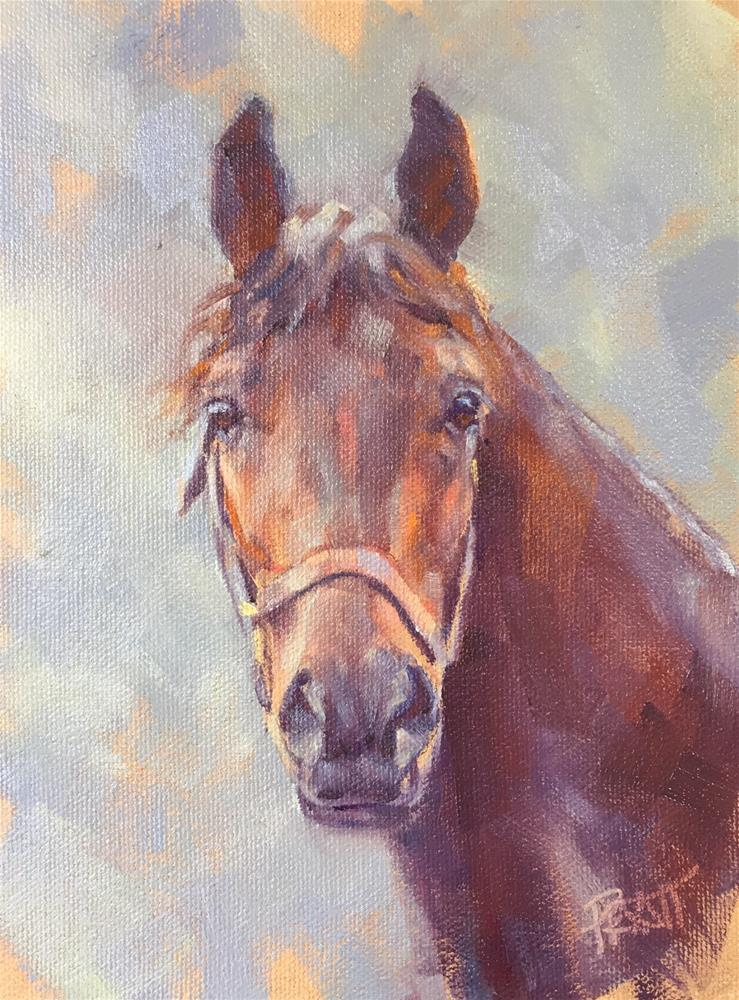 """Bright Eyes"" original fine art by Jennifer Pratt"