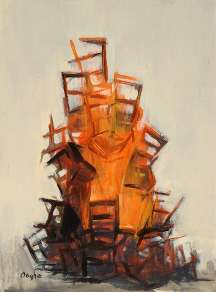 """Bonfire"" original fine art by Angela Ooghe"