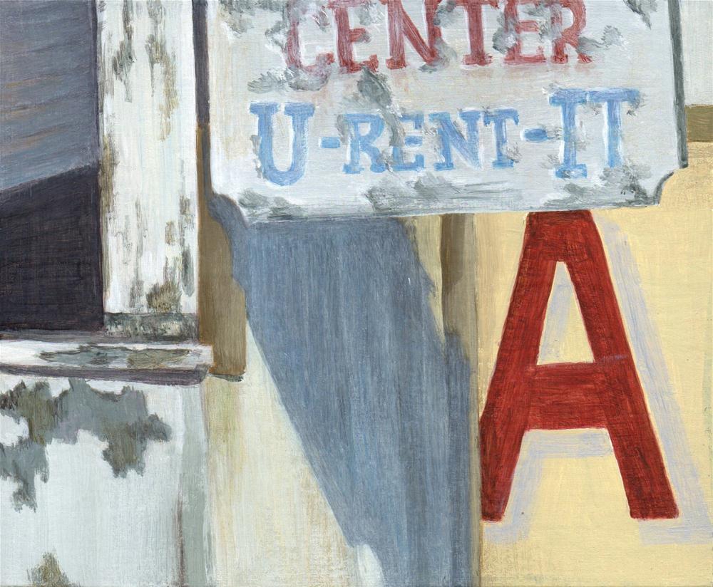"""U-Rent-It"" original fine art by Debbie Shirley"