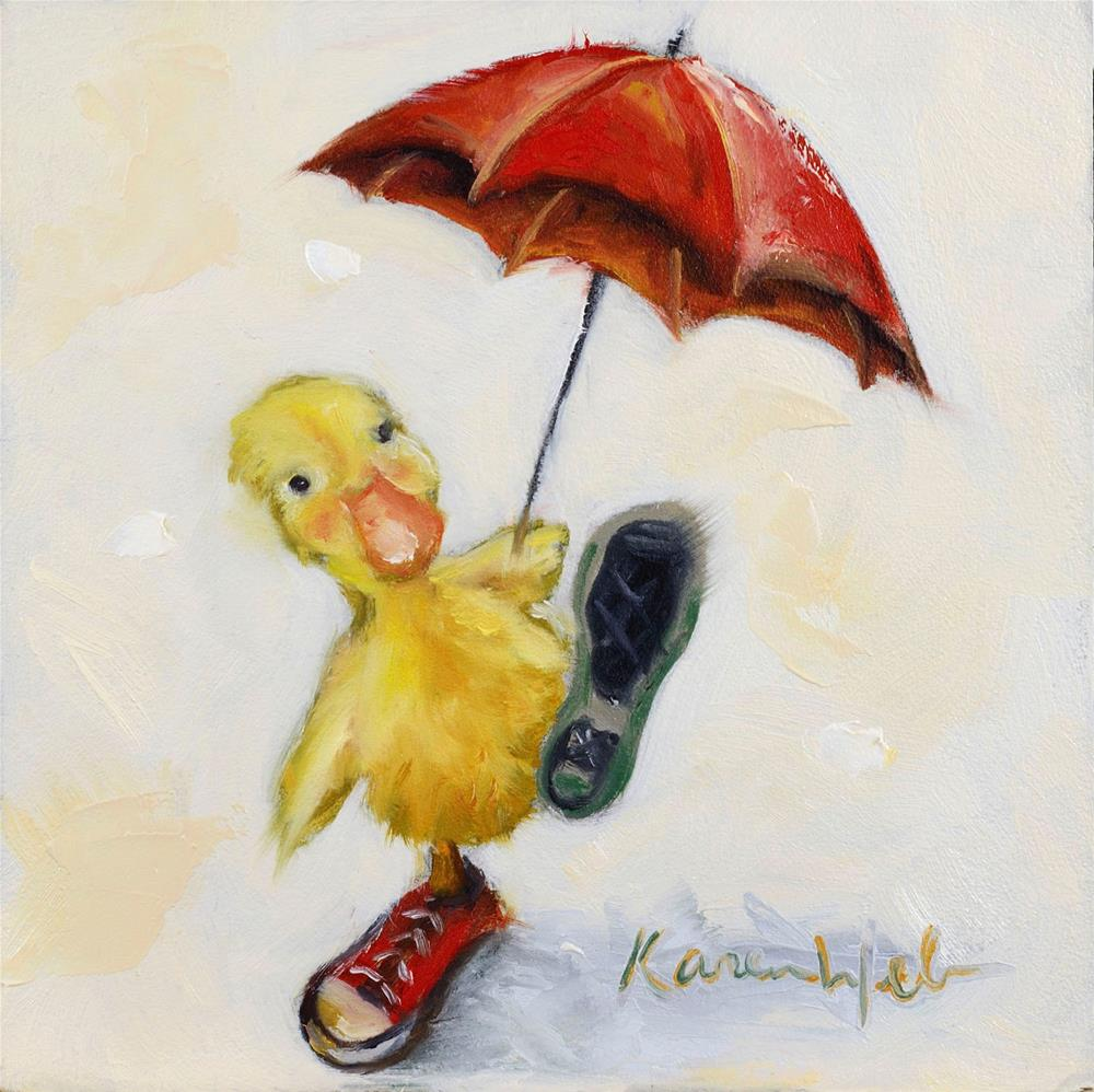 """Put Your Best Foot forward"" original fine art by Karen Weber"