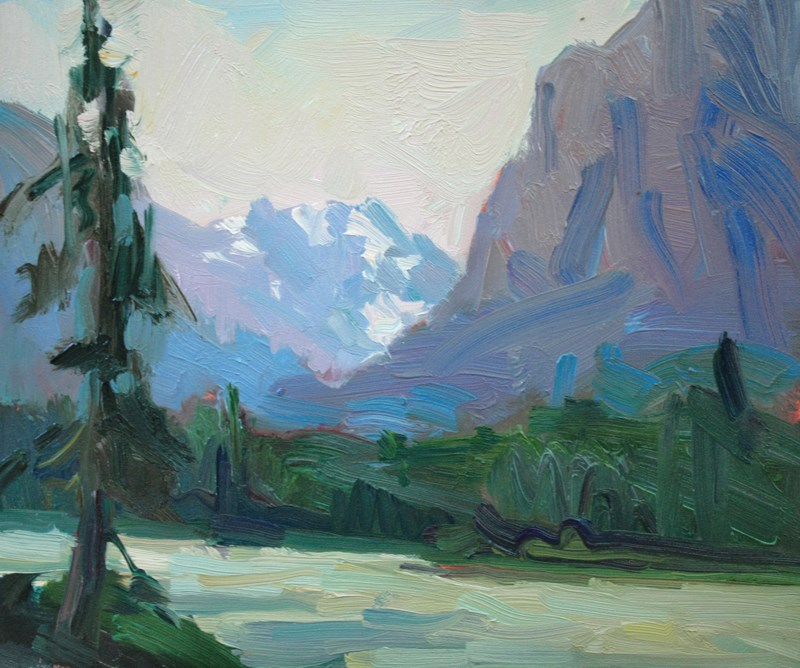 """""""Athabasca River"""" original fine art by Kathryn Townsend"""