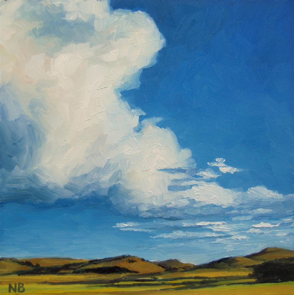"""Big Sky Blue"" original fine art by Nora Bergman"