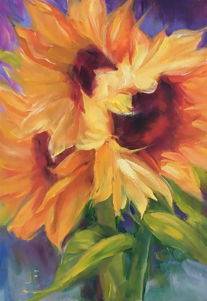 """Sunflowers"" original fine art by Charlotte Fitzgerald"