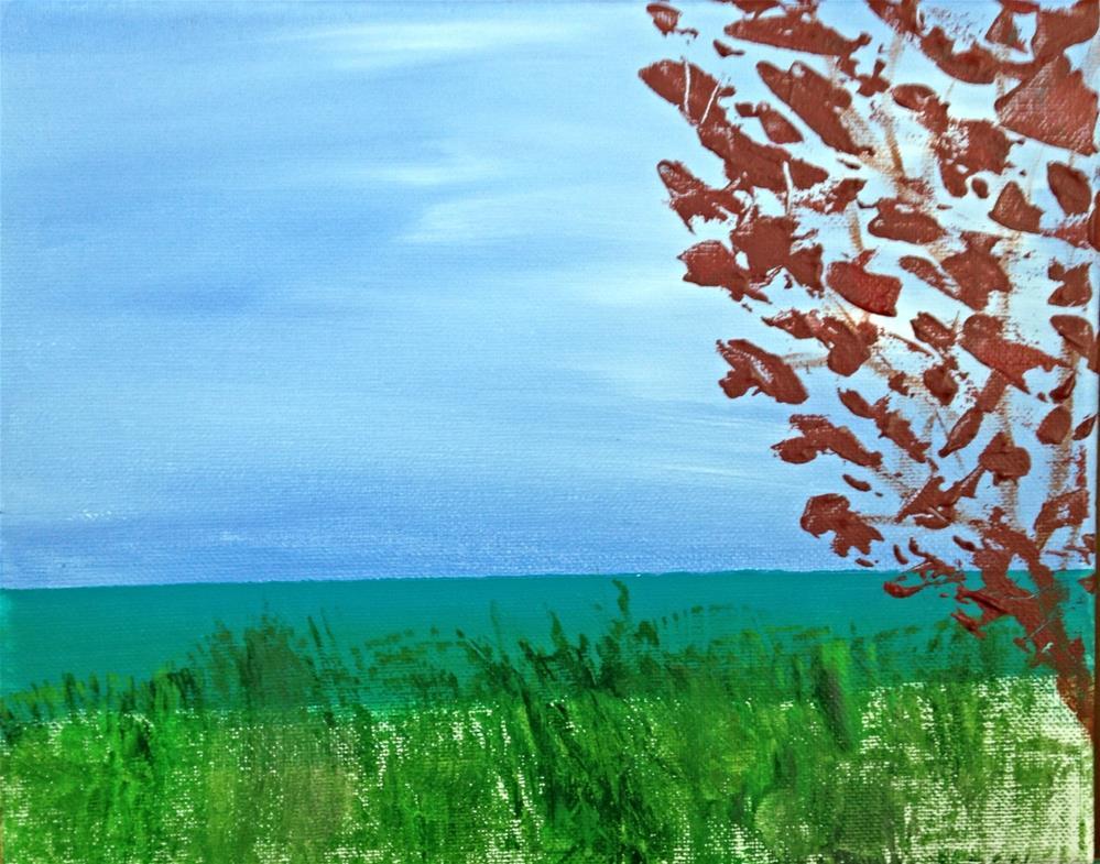 """Winter at Venice Beach"" original fine art by Brenda Smith"