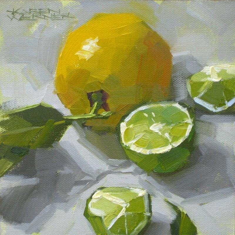 """""""Lemon Lime"""" original fine art by Karen Werner"""