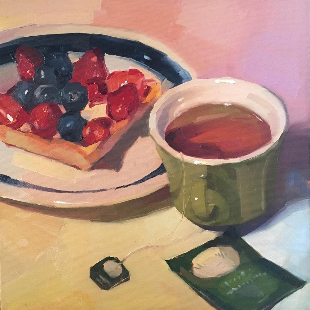 """Blueberry Tart"" original fine art by Sarah Sedwick"