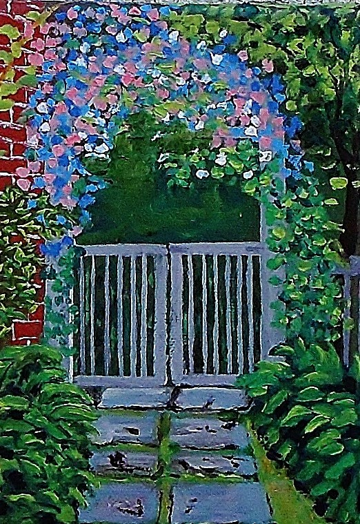 """""""The Side Gate"""" original fine art by Mike Caitham"""