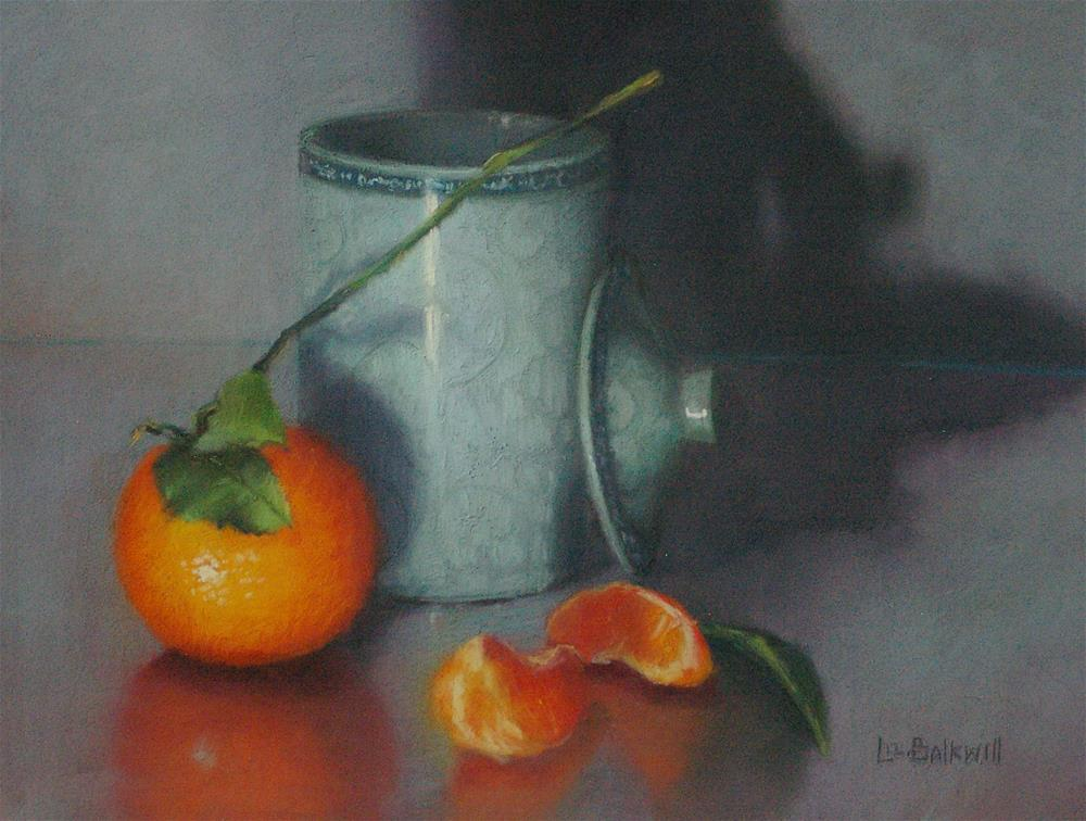 """Chinese mug with citrus"" original fine art by Liz Balkwill"