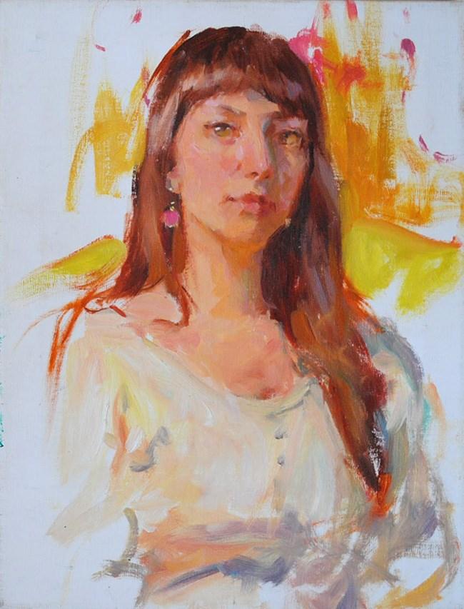 """Dina"" original fine art by Taisia Kuklina"