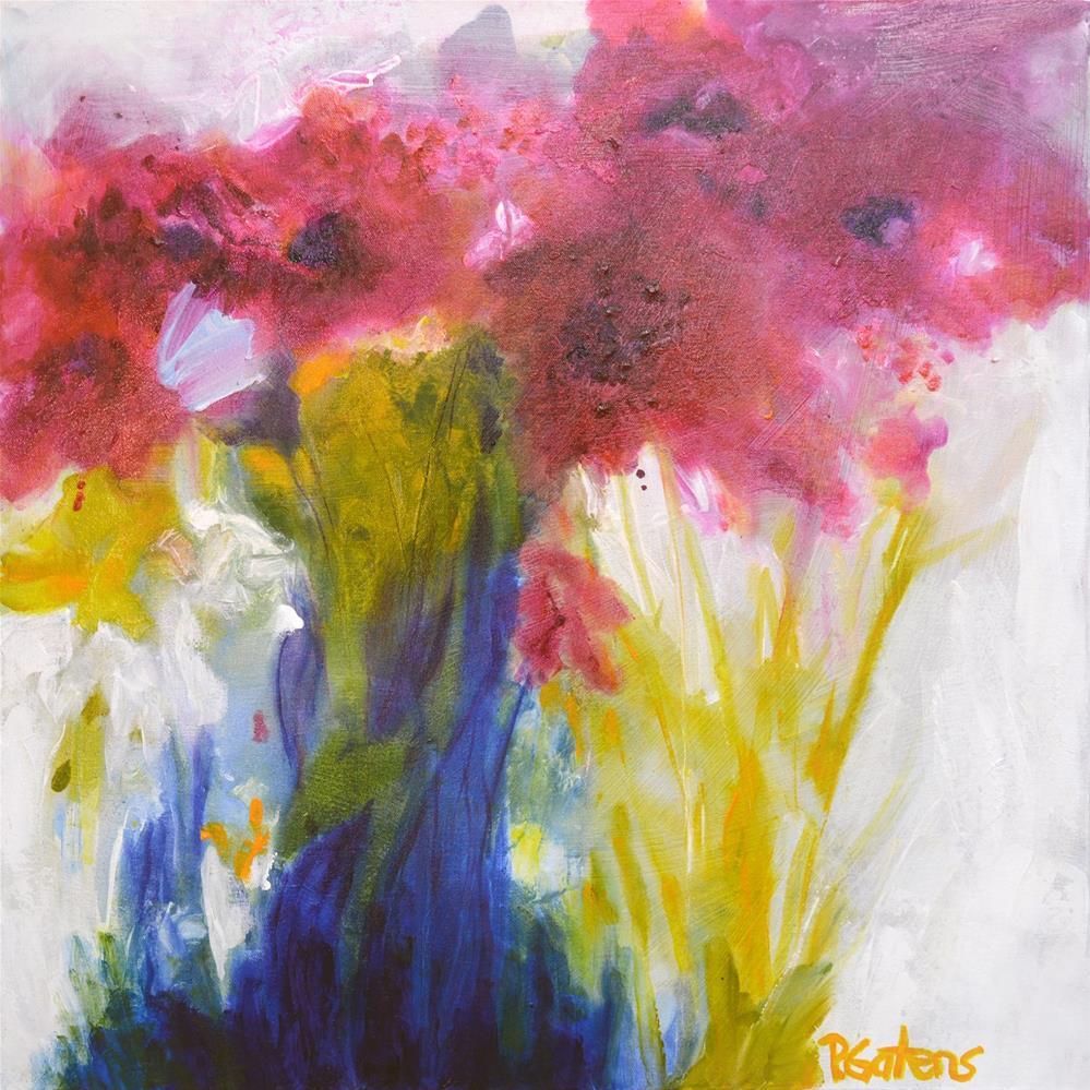 """Woodland Wildflowers"" original fine art by Pamela Gatens"
