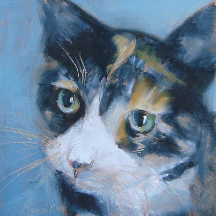 """Miss Ella II"" original fine art by Laura  Buxo"