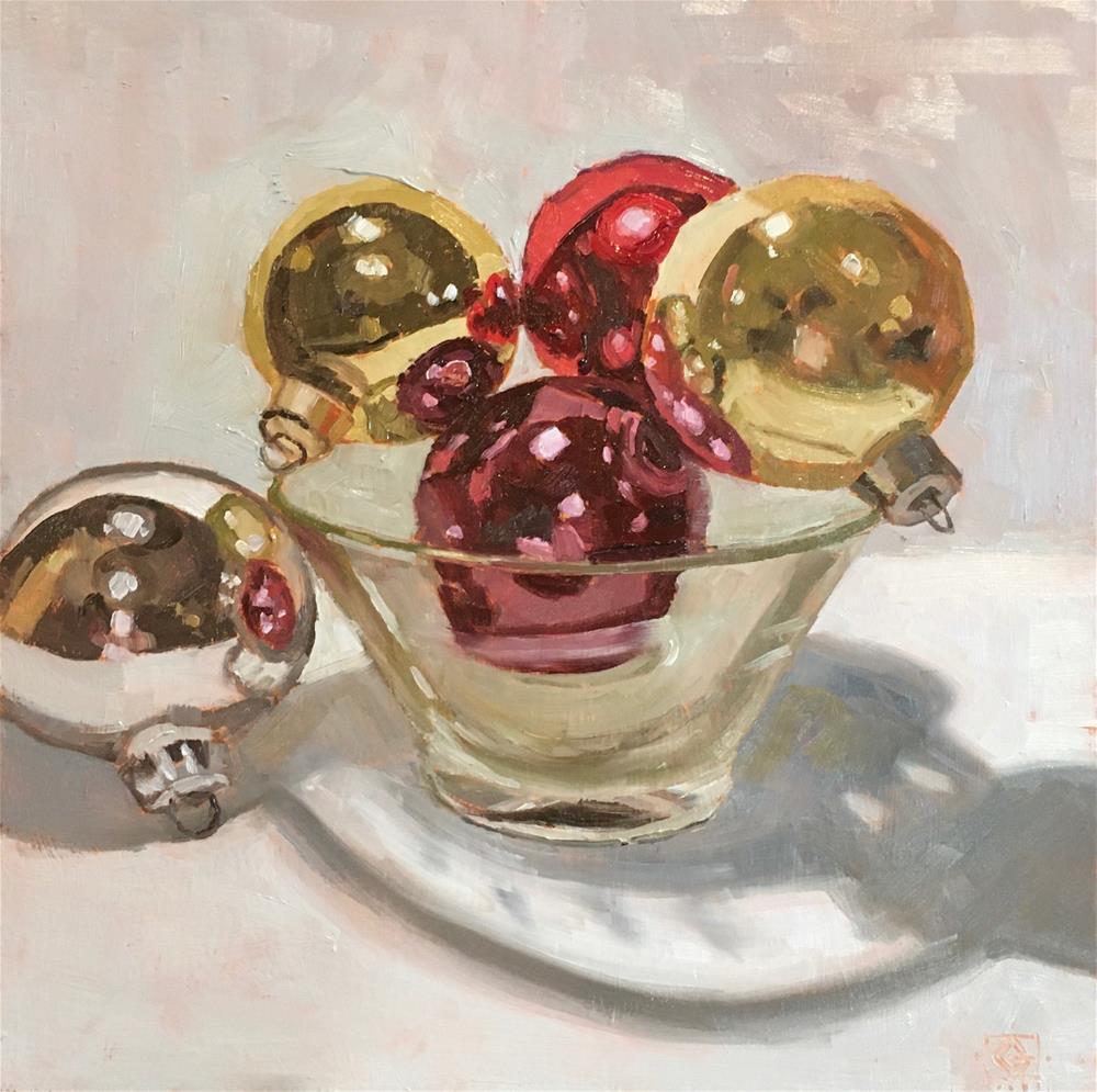 """Bowl of Baubles"" original fine art by Carol Granger"