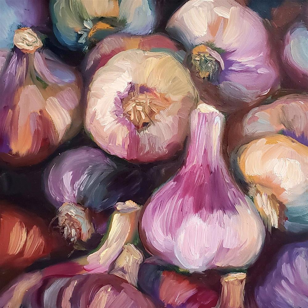 """""""Purple Garlic"""" original fine art by Wendy Ordonez"""