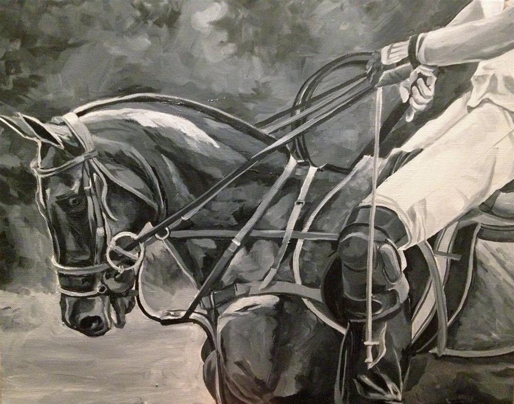 """Polo Pony"" original fine art by Lauren Kuhn"