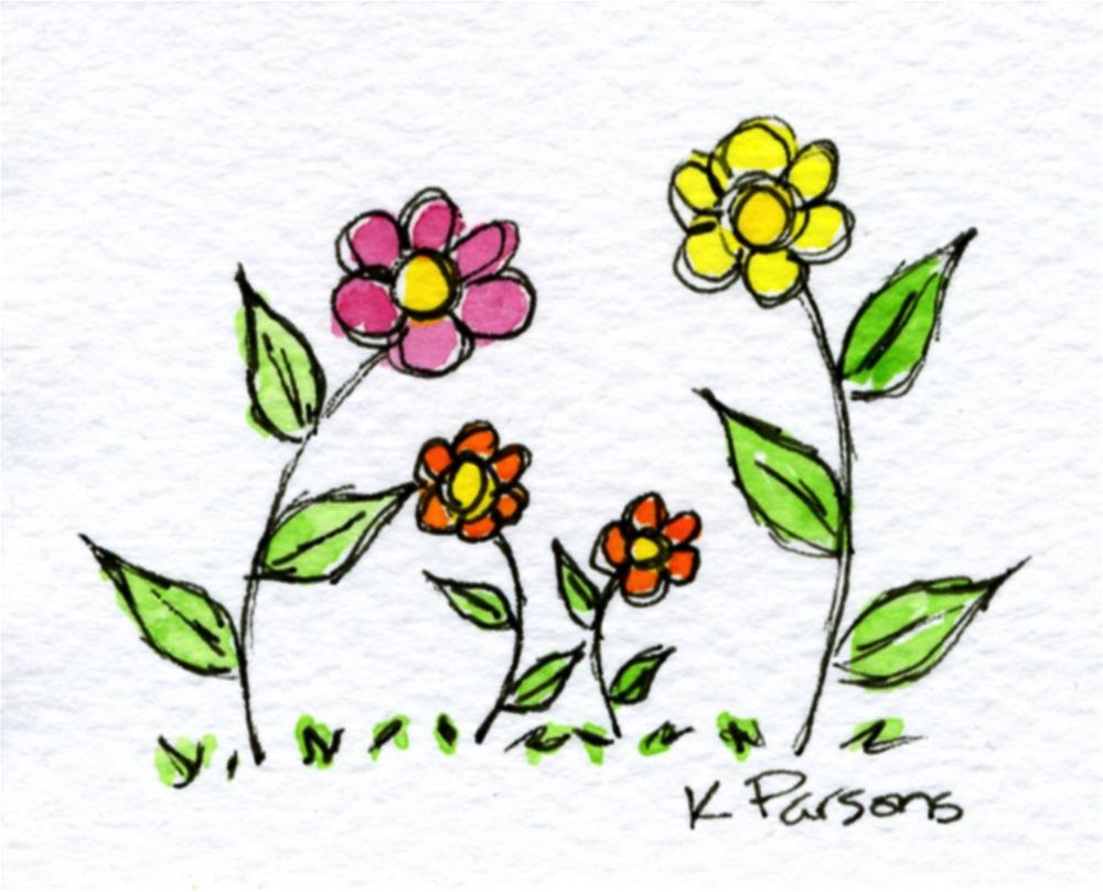 """Flower Family"" original fine art by Kali Parsons"