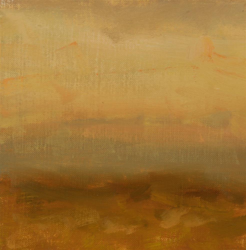 """""""Fall Sunset 15"""" original fine art by Scott Serafica"""