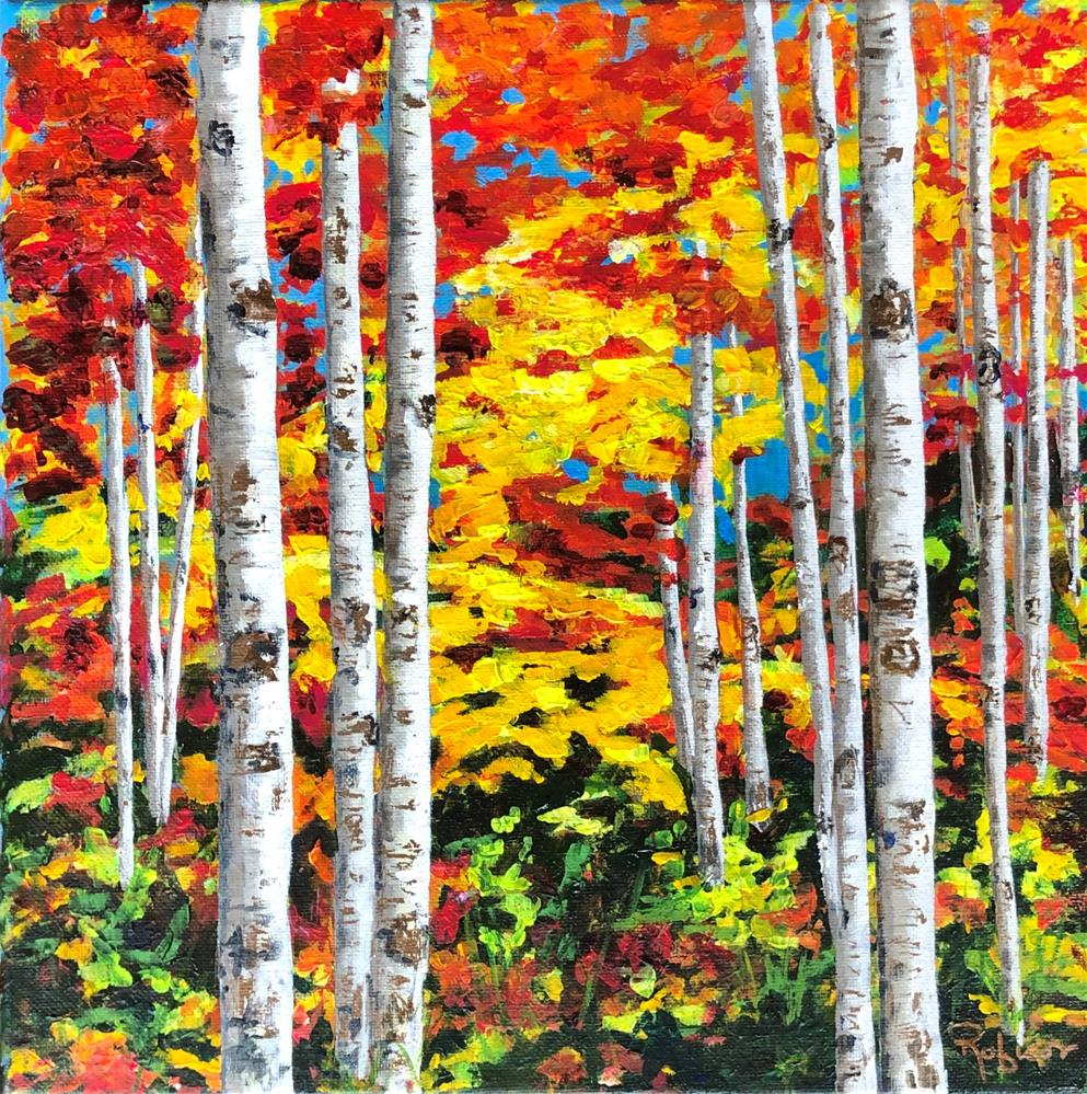 """""""Blast of Color in the Fall"""" original fine art by Renee Robison"""