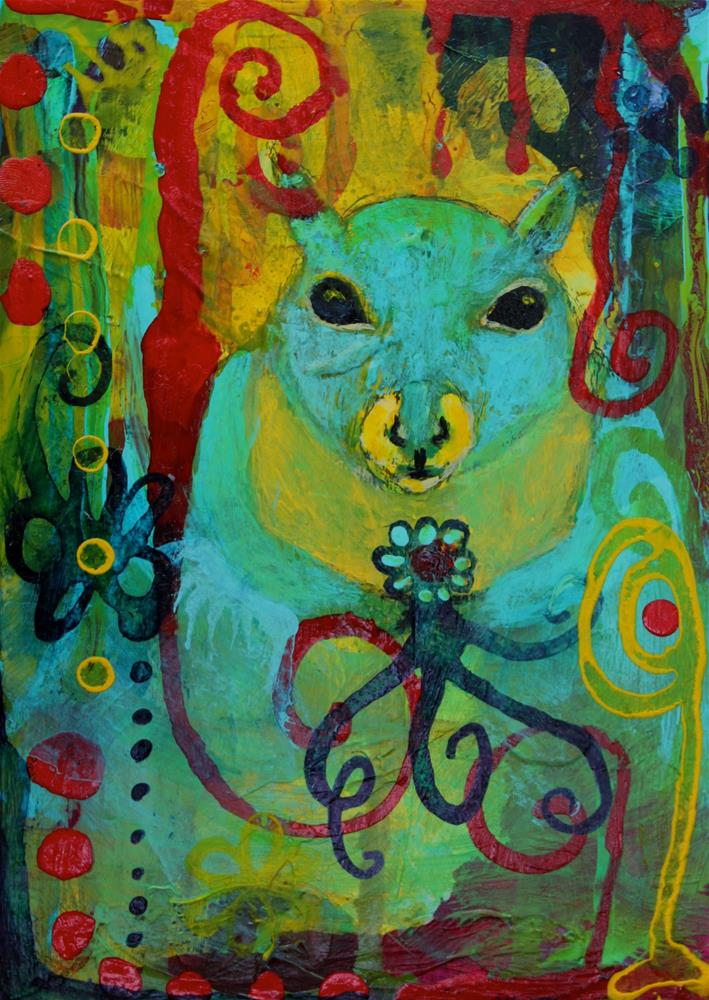 """#19 Gathering"" original fine art by Silke Powers"