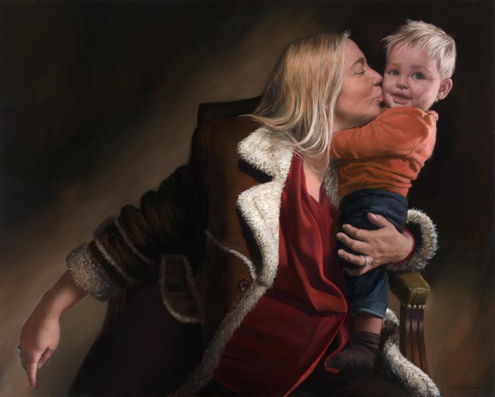 """Bork & Rebecka"" original fine art by Jon B. Paulsen"