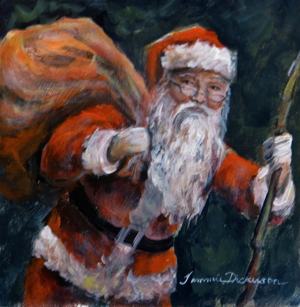 """Santa and His Pack"" original fine art by Tammie Dickerson"
