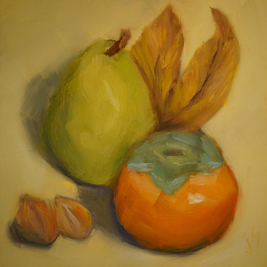 """""""Autumn Celebration"""" original fine art by Johnna Schelling"""