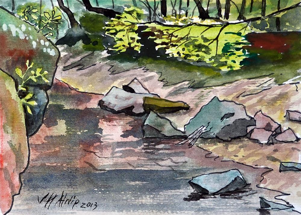 """Creek Interlude"" original fine art by Jeff Atnip"
