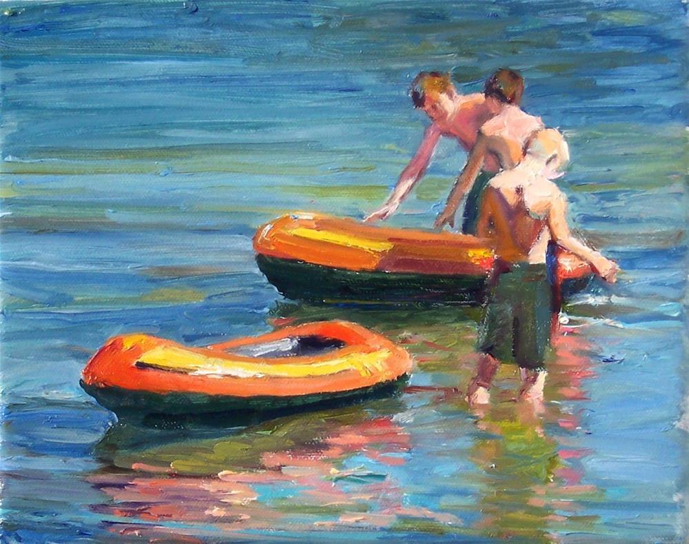 """Explorers,figures,oil on canvas,8x10,price$950"" original fine art by Joy Olney"