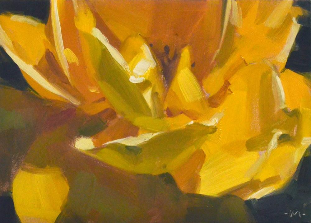 """In Your Face Rose"" original fine art by Carol Marine"