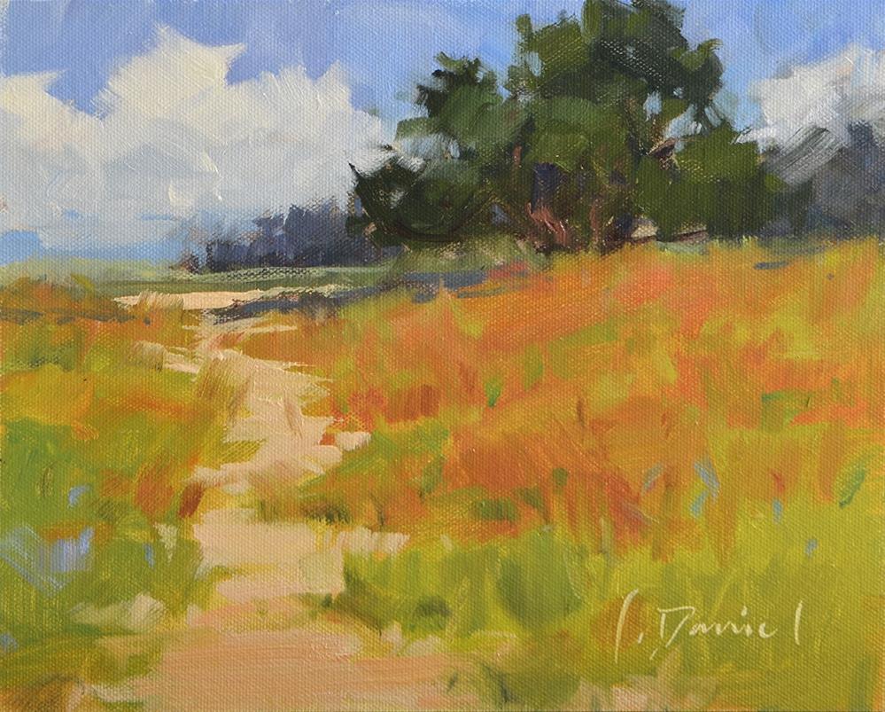 """Golden Path and announcing Spring Workshops!"" original fine art by Laurel Daniel"
