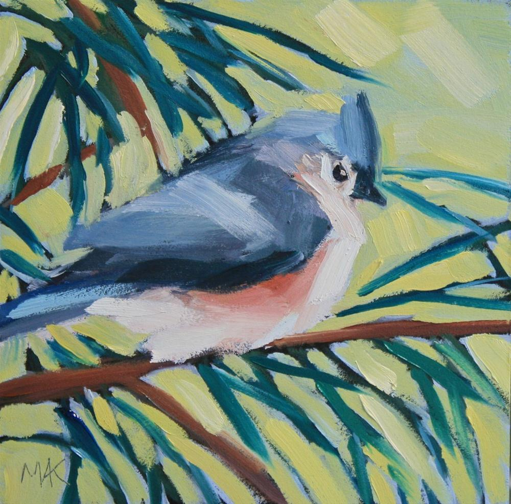 """""""Titmouse"""" original fine art by Mary Anne Cary"""