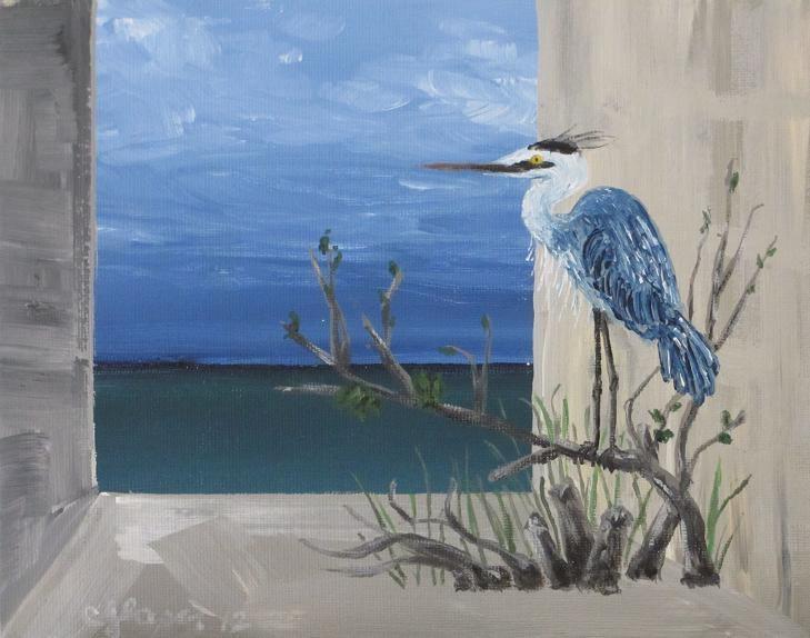 """""""The Observer"""" original fine art by christina glaser"""