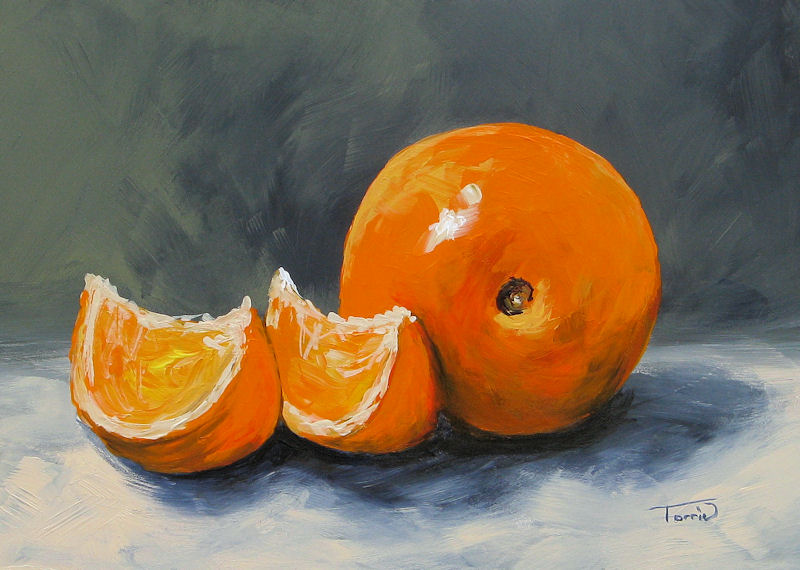 """Fresh Orange III"" original fine art by Torrie Smiley"