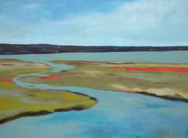 """""""Winding Waters"""" original fine art by Janet Bludau"""