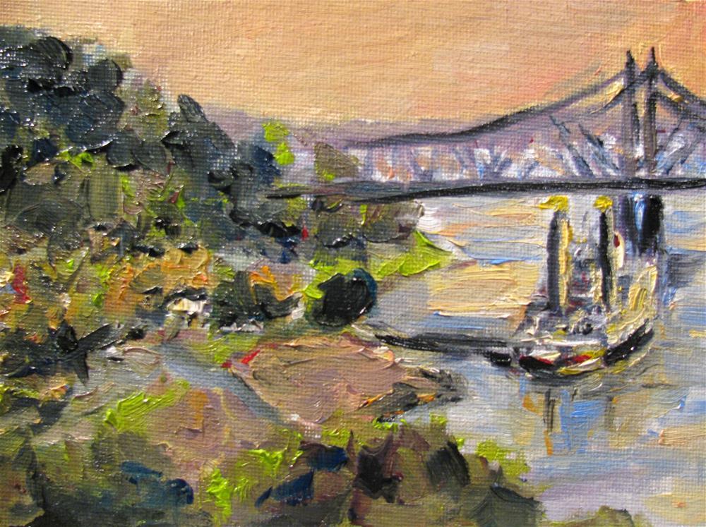 """Sunset Under the Hill"" original fine art by Susan Elizabeth Jones"