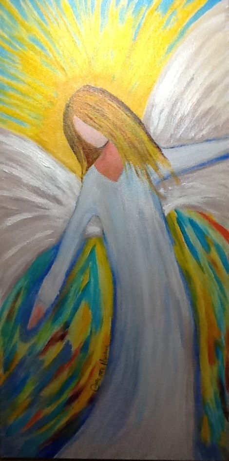 """""""In the Arms of an Angel"""" original fine art by Charlotte Bankhead Hedrick"""
