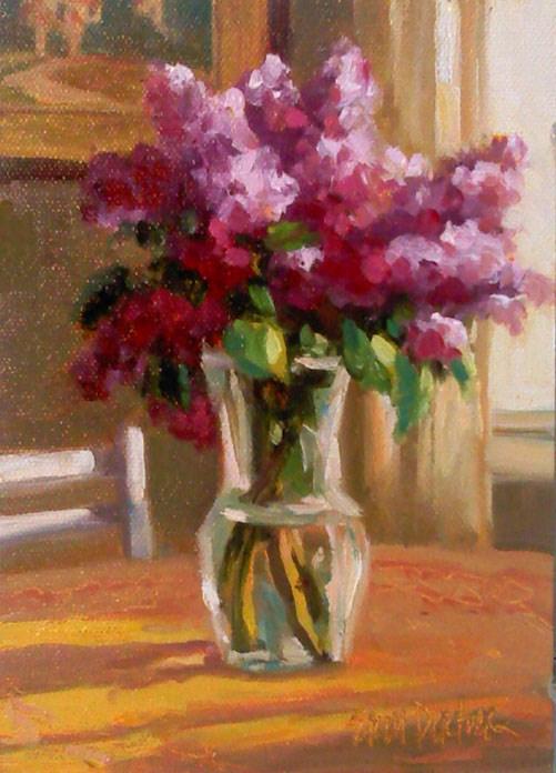 """""""Luscious Lilacs"""" original fine art by Erin Dertner"""